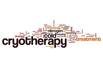 Cryotherapy word cloud