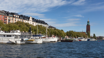 Panoramic view of Stockholm city