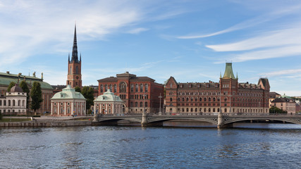 Panoramic view of Stockholm Riddarholmen Island