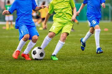 Soccer match for youth teams