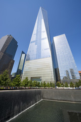 National September 11 Memorial in Downtown Manhattan New York City