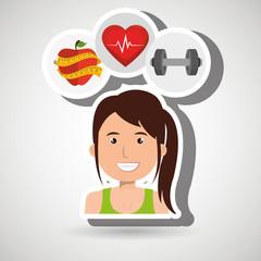 woman sport health vector illustration eps 10