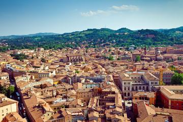 Bologna city view