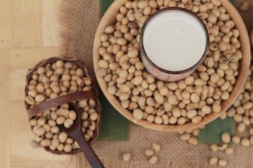 Soy milk is delicious with soybean seed.