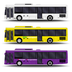 city transport. Bus side view