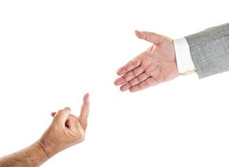 désaccord/main et doigt majeur