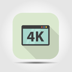 4K flat icon with long shadow