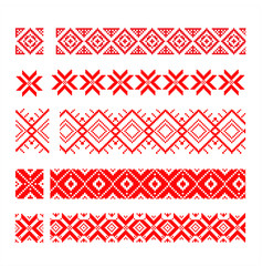 Set of ethnic patterns