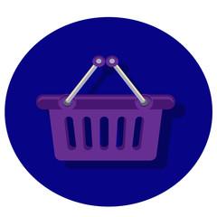 Продуктовая корзина иконка, покупатели