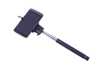 selfie monopod and cellphone