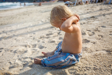 Little boy on the sand