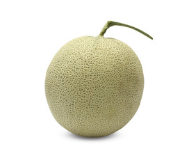 Rock Melon fruit on white background.