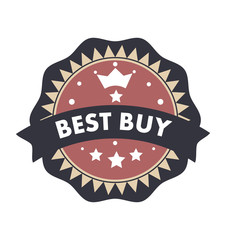 Best buy text badge label seal retro vintage