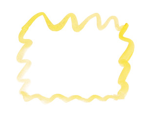 Wavy frame drawn with yellow paint