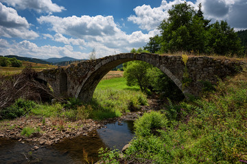 Old Roman bridge near Batak dam, Bulgaria