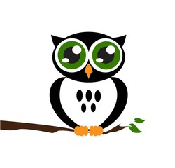 Cute vector owl icon