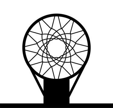 Monohrome basketball basket icon isolated on a white background, vector illustration