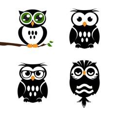 Vector icon set. Owl