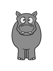 dick funny comic cartoon sweet little cute baby hippo happy child