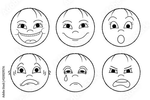 Emotionen Wie Sind Sie Heute Drauf Stockfotos Und Lizenzfreie