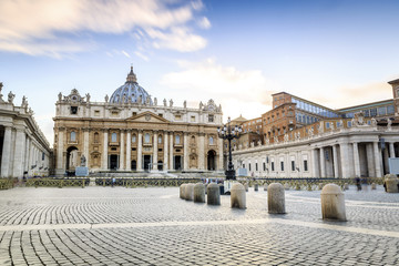 Saint Peter's Basilica and square in Vatican City Wall mural