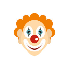 Clown icon in flat style isolated on white background. Joke symbol vector illustration