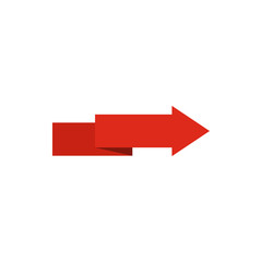Arrow to right icon in flat style isolated on white background. Pointer symbol vector illustration