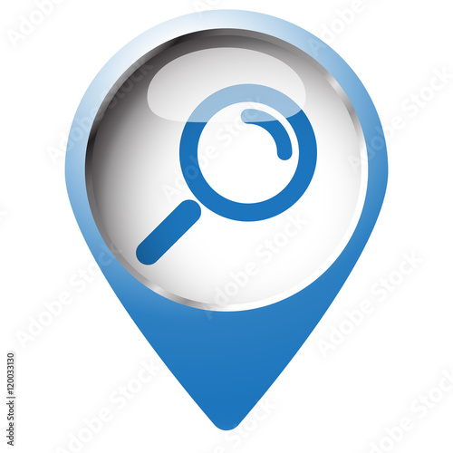 magnifying glass icon blue - photo #37