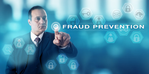 Forensic Investigator Pushing FRAUD PREVENTION