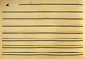 music booklet or notes paper sheet music