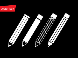 Set of vector pencils in flat style