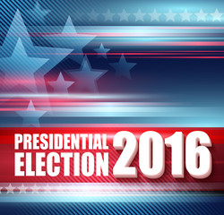 2016 USA presidential election poster. Vector illustration
