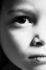 Serious child portrait