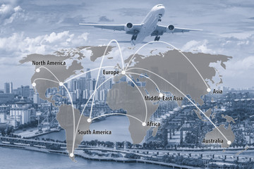 Virtual interface connection map of global partner connection