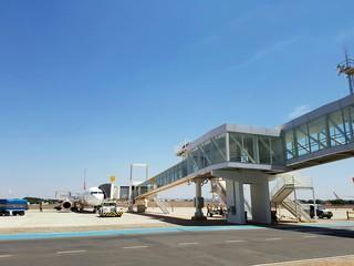 Aeronave parada no aeroporto