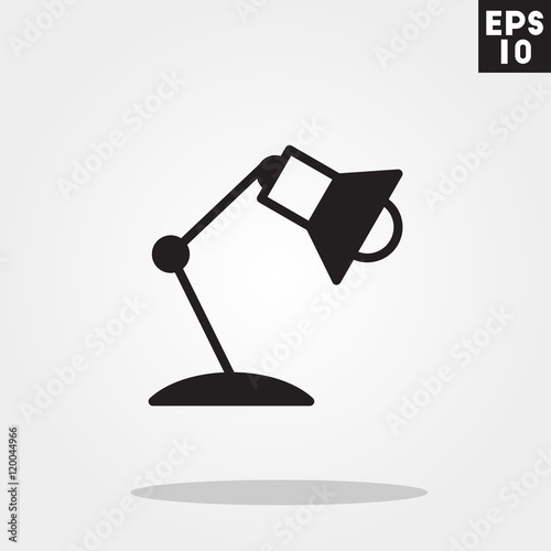 Desk lamp icon in trendy flat style isolated on grey background – Desk Lamp Logo