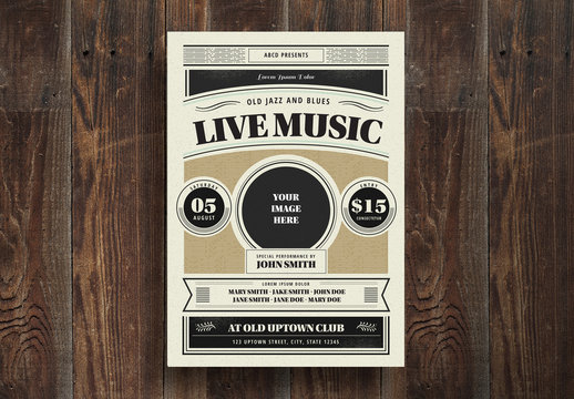 Live Music Flyer