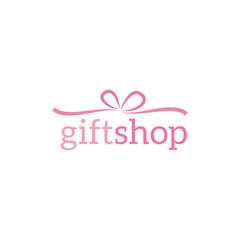 gift shop logo design vector