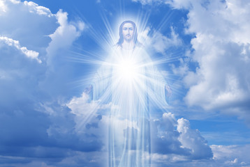 Jesus Christ in Heaven religion concept
