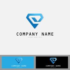 diamond abstract 3d logo