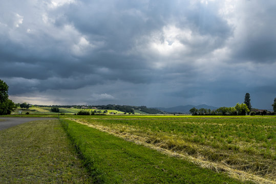 Storm on the countryside