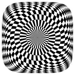 Keuken foto achterwand Psychedelic Op art pattern.
