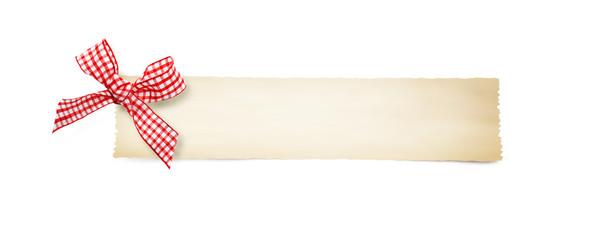Papier mit Schleife