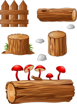 Timber and stump cartoon