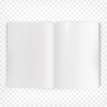 Vector open blank magazine spread