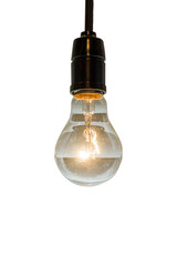 close up of vintage light bulb