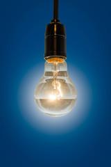 close up of vintage light bulb