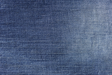 Closeup blue fabric texture background