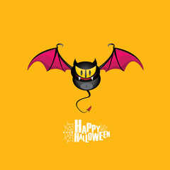 Happy halloween vector background with bat