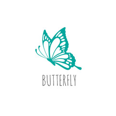 butterfly logo graphic design concept